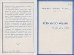 Ricordo funebre di Fernando Milani - recto