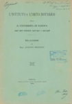 L'Istituto e l'Orto Botanico della R. Universita di Padova negli anni scolastici 1916-1917 e 1917-1918