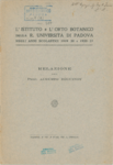L'Istituto e l'Orto Botanico della R. Universita di Padova negli anni scolastici 1919-20 e 1920-21