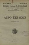 Bollettino n. 92, Albo dei soci, aprile 1928