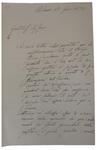 Lettera di P. Barilari a D. Turazza. 17 novembre 1875