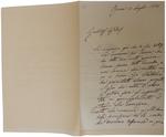 Lettera di P. Barilari a D. Turazza. 21 luglio 1876