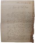 Lettera di R. Canevari a D. Turazza. 28 agosto 1875