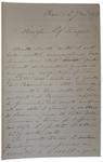 Lettera di P. Barilari a D. Turazza. 7 novembre 1875?