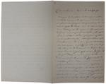 Lettera di A. Cavalletto a D. Turazza. 20 agosto 1875