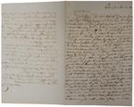 Lettera di A. Cavalletto a D. Turazza. 4 settembre 1875
