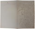Lettera di A. Cavalletto a D. Turazza. 14 ottobre 1875