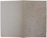 Lettera di A. Cavalletto a D. Turazza. 17 ottobre 1875