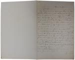 Lettera di A. Cavalletto a D. Turazza. 21 ottobre 1875