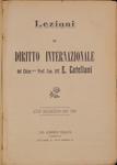 Lezioni di diritto internazionale : anno accademico 1905-1906