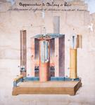 Apparecchio di Dulong et Petit per determinare il coefficiente di dilatazione assoluta del mercurio