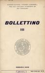 Bollettino Nuova Serie n. 3 - dicembre  1957