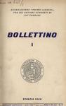 Bollettino Nuova Serie n. 1 - aprile 1958