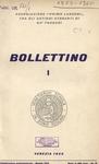 Bollettino Nuova Serie n. 1 - maggio 1959