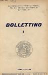 Bollettino Nuova Serie n. 1 - aprile 1960