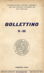 Bollettino Nuova Serie n. 2-3 - agosto-dicembre 1960