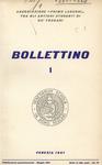 Bollettino Nuova Serie n. 1 - maggio 1961