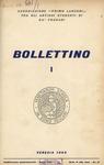 Bollettino Nuova Serie n. 1 - aprile 1962