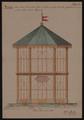 Prospetto della nuova serra pella palma di Goethe in conformità alle modificate dimensioni e forma della pianta. Allegato D