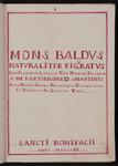 Mons Baldus naturaliter figuratus …