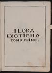 Flora exoticha tomo primo