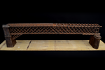 Vista tridimensionale del modello: 3 - Ponte bavarese a traliccio tipo Howe