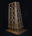 Vista tridimensionale del modello: 4 - Pila reticolare in legno di un ponte bavarese