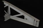 Vista posteriore interna del modello: 11 - Particolare travata poligonale in corrispondenza dell'appoggio