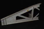 Vista laterale esterna del modello: 11 - Particolare travata poligonale in corrispondenza dell'appoggio