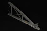 Vista posteriore interna del modello: 12 - Travata parabolica non smussata