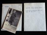 Una scheda, una busta e una fotografia dell'Iconoteca dei botanici