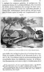 Habitations sur pilotis des Arfakis, du havre Dorei (Nouvelle-Guinee)
