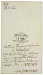 D. F. L. Schlechtendal - verso