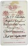 Doct. F. C. Schuebeler - verso