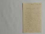 Lettera da Braun a Visiani (5 aprile 1854)