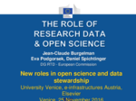 The role of research data & Open Science: intervento di Jean-Claude Burgelman