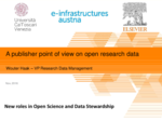 Publisher point of view on open research data production process: intervento di Wouter Haak