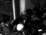 11 aprile, Le Corbusier visita la mostra sul progetto per l'ospedale di Venezia