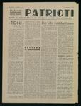 Patrioti. Pubblicazione della  Iᵃ Brigata Giustizia e libertà