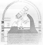 Sezione della cupola dell'Osservatorio