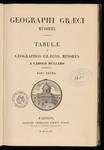 """Frontespizio, indice e descrizione delle tavole del volume """"Geographi Graeci minores. Tabulae, pars prima"""", di K. O. Müller."""