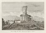 Veduta del Villaggio della Turbia e delle rovine del Trofeo di Augusto.