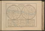 Planisfero celeste diviso in costellazioni australi e boreali.