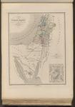 Carta della Terra Santa, indicante il viaggio degli Ebrei nel deserto.