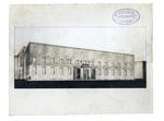 Palazzo Liviano. Prospettiva secondo il progetto di Gio Ponti