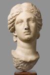 Testa femminile diademata - Afrodite?