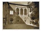 Piazza Capitaniato, facciata orientale della Sala dei Giganti e dell'edificio tra piazza Capitaniato e la Sala dei Giganti poi demolito