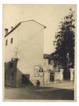 Via dell'Accademia, in primo piano l'ultima casa da abbattere per far posto al nuovo palazzo Liviano