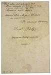 Doct. Samuel Brassai - verso