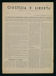 Giustizia e libertà. Notiziario della 2a Divisione alpina G.L.